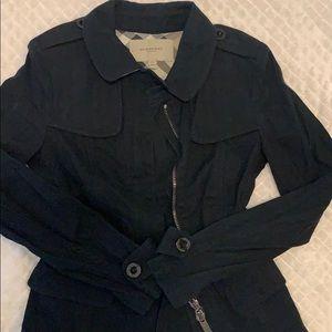 Black denim blazer, BURBERRY, Size 4 US